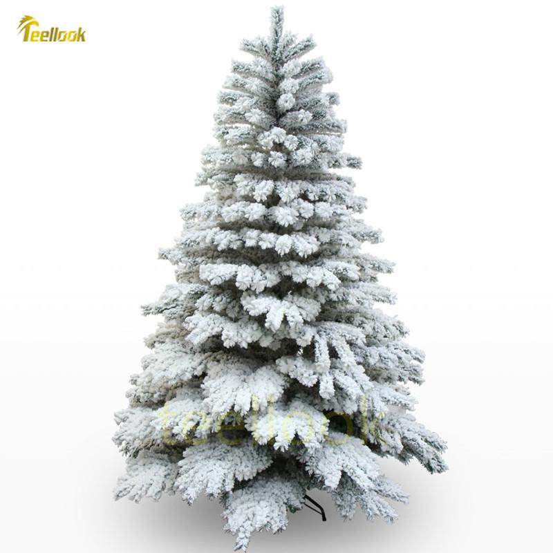 Teellook 1.8m/180cm 2.1m/210cm snow addiction hanging Christmas tree snow Christmas tree shopping mall home decoration