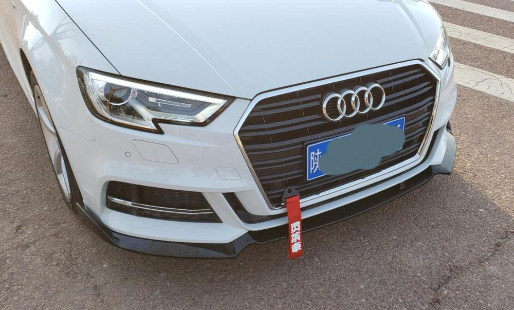 19 A3 S-line S3 передний разделитель для губ 3-PC стиль ABS передний бампер спойлер для Audi S3