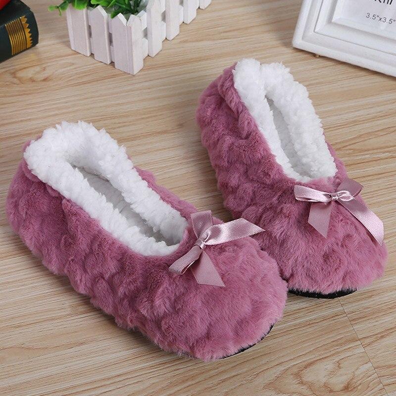 Super Soft Warm Cozy Fuzzy Soft Slippers Non-Slip Lined Socks For Women Thicken Floor Socks H66
