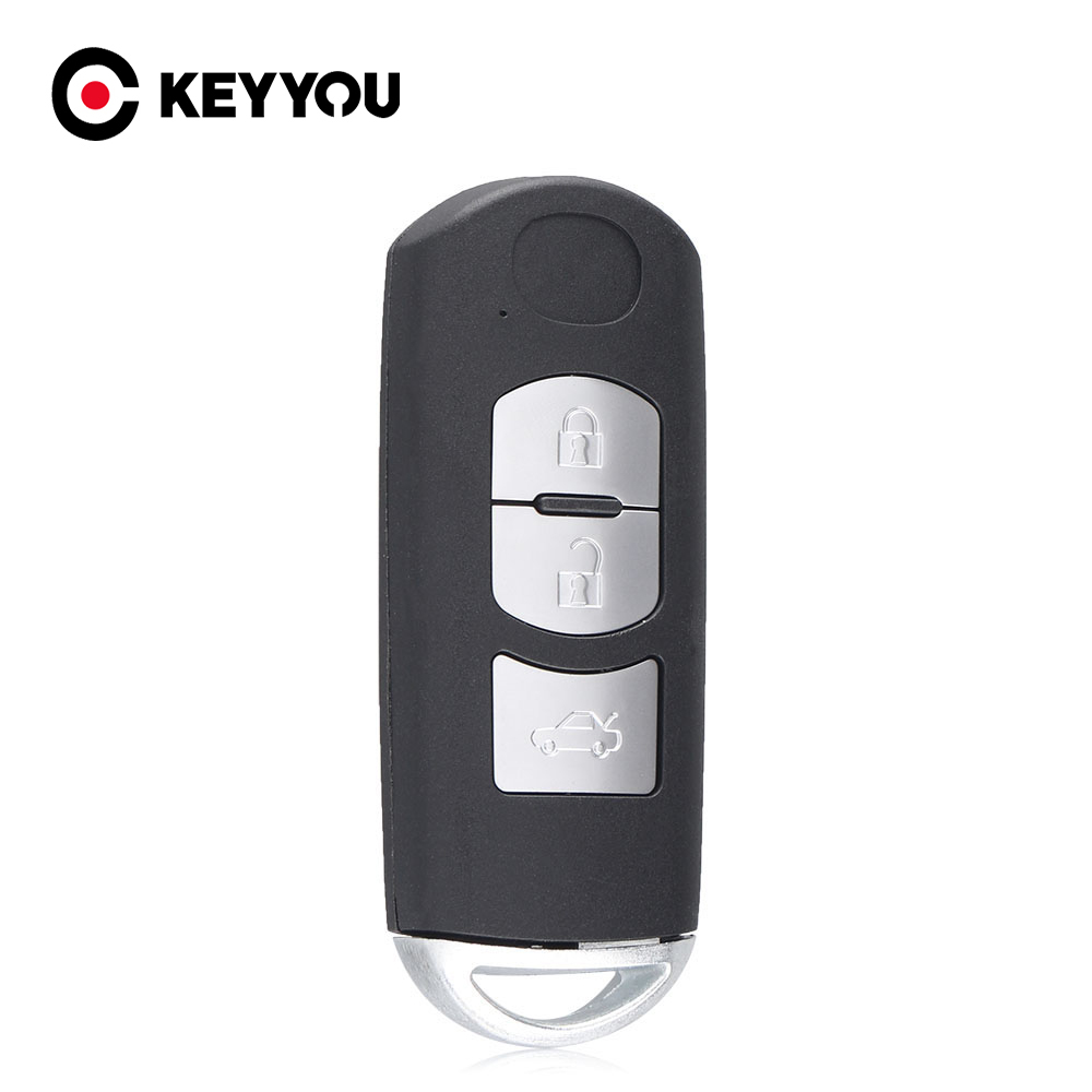 For Mazda 3 2010 <font><b>5</b></font> 6 <font><b>2004</b></font> CX-<font><b>5</b></font> CX-7 CX-9 RX8 Miata MX5 With Emergency Key Blade Auto Remote Control Key 3 Button Smart Key Case image