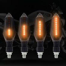 Motorcycle turn signal LED light flashing This universal version of the bendable front and rear stop