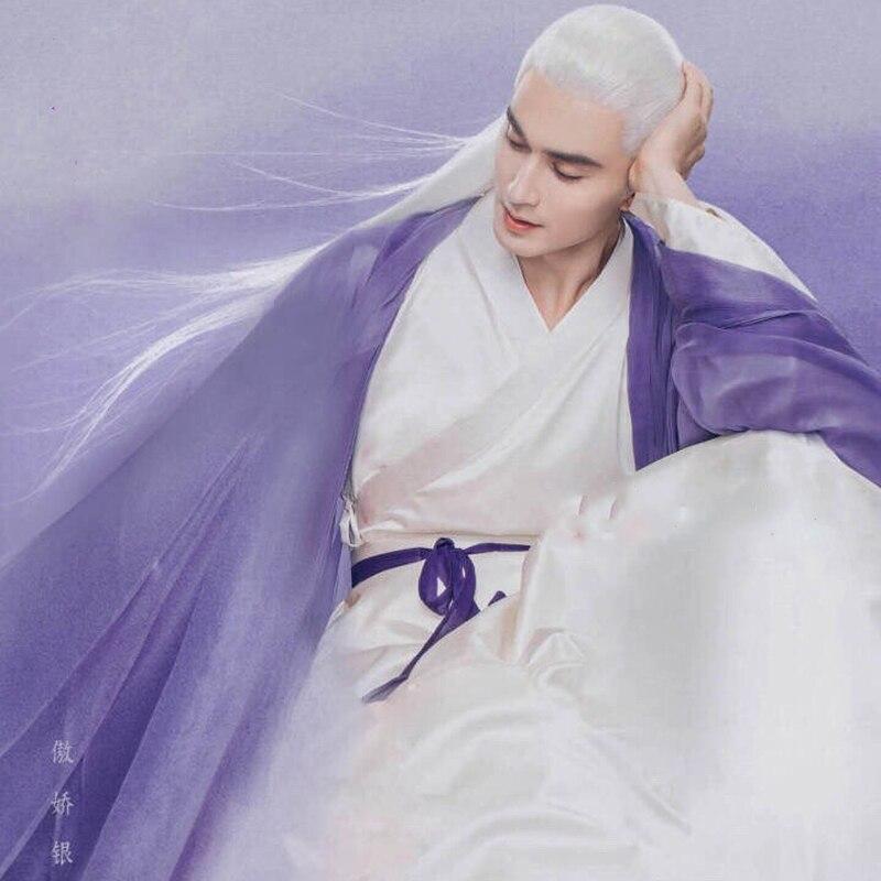 9 Designs Wei Jin Period Male Swordman Costume Hanfu Immortal Emperor DongHua Purple Hanfu For TV Play Eternal Love Of Dream