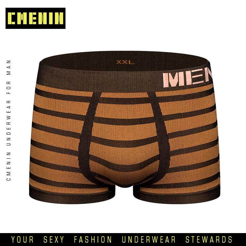 New Brand Quick Dry Sexy <font><b>Men</b></font> Underwear Boxer Shorts Striped Lingeries Cotton <font><b>Mens</b></font> <font><b>Boxershorts</b></font> Underware Boxers <font><b>Funny</b></font> M0041 image