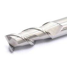 MZG и удлинения ресниц всего за 2 каннелюра с резки HRC55 фреза cnc для работы с алюминием Медь обработки Вольфрам Сталь спиральная коронка фрезерный станок