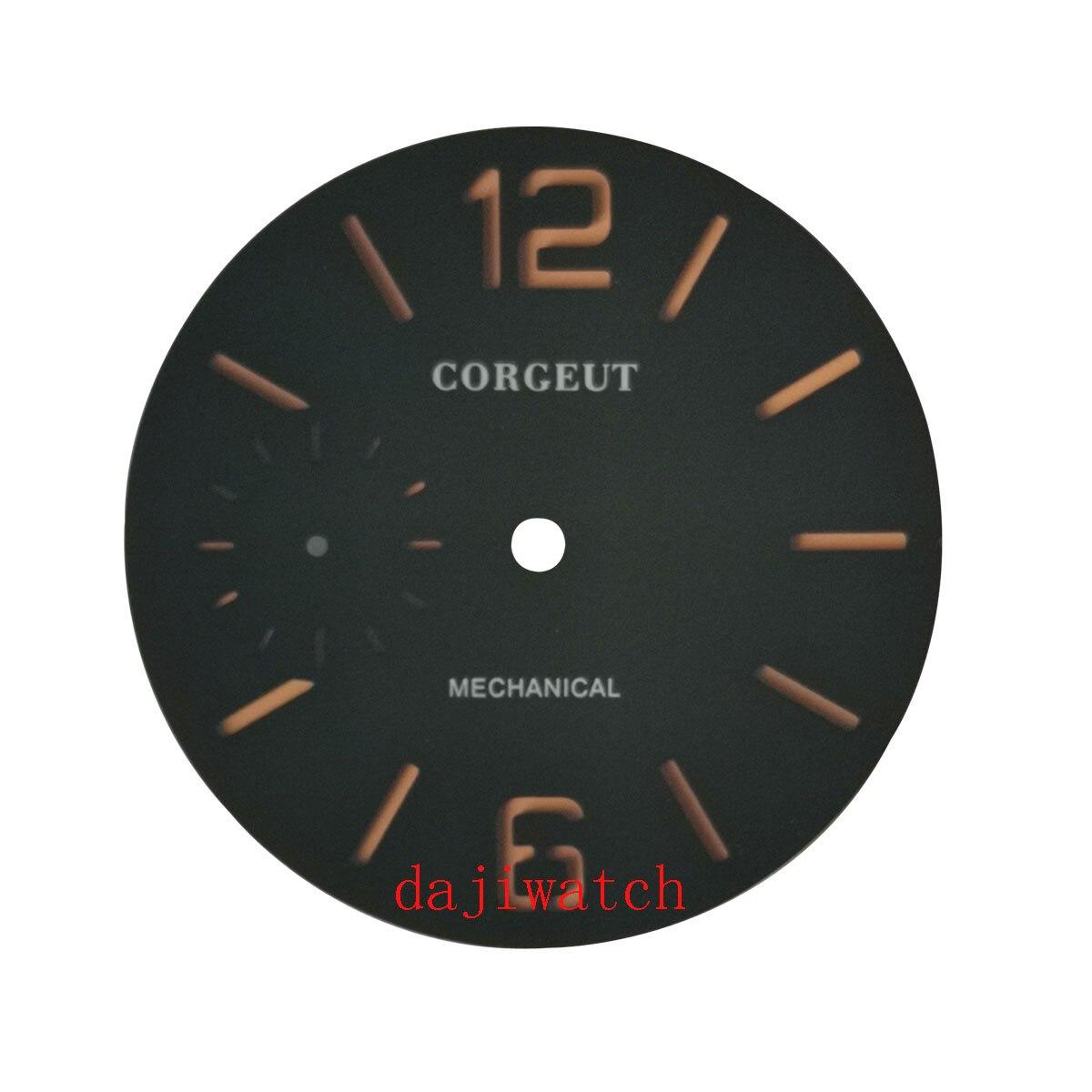 38.5 milímetros Corgeut Sanduíche Mostrador Preto Mostrador