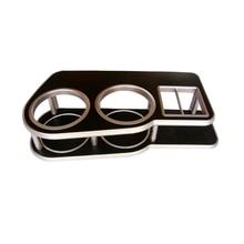 1Pcs Silvery Brim In Black Cup Holder Car Instrument Desk Ta