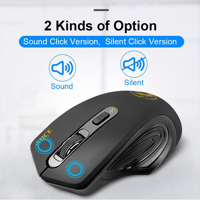 USB Wireless Mouse 2000DPI USB 2.0 Receiver Optical Computer Mouse 2.4GHz Ergonomic Mice For Laptop PC Sound Silent Mouse 2