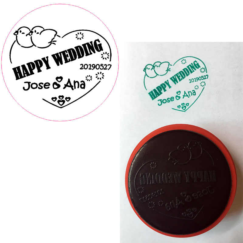 Custom Wedding Stamp Self Inking