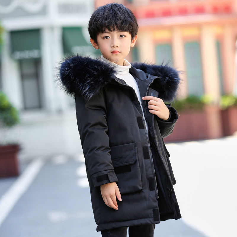 calzado aliexpress calidad Adolescente Parkas de invierno de los niños abrigo cálido niño ...