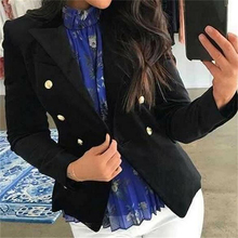 Elegant Women Blazer Solid Color Tops Autumn Winter Office Lady Outerw