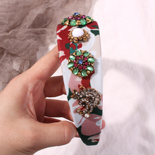 2019 Vintage Colorful Rhinestone Hairband For Women Party Holiday Hairwear Wide Hoop Headband Hair Jewelry Accessories