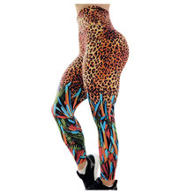 High Elastic Waist Fitness Legging Women Leopard Print Push Up Pencil Pants Ladies Sexy Exercise Sweatpants Compression Trousers(China)