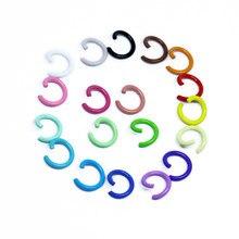 1.2x8mm 100 pçs/lote 19 cores anéis de salto split conectores para diy jóias encontrando fazer acessórios suprimentos por atacado