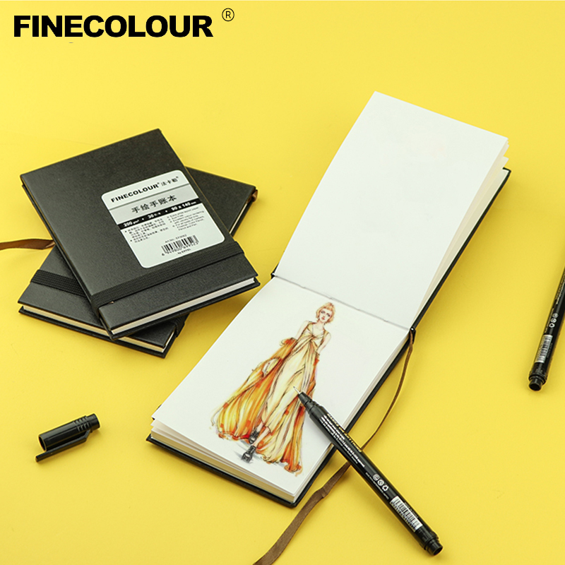 Finecolour Business Style Hand-drawn Handbook Sketchbook Diary Drawing Graffiti Paper Sketchbook Notepad Notebook Gift EF9062