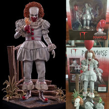 23cm NECA Stephen King's Het Pennywise Joker Clown PVC Action Figure Speelgoed Pennywise Action Figure Poppen Halloween Dag gift(China)