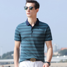 Summer cotton short sleeve mens casual youth Lapel trend loose mens Polo Shirt Mens thin Polo Shirt Top
