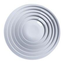Керамическая тарелка глазурованная темпераментная керамическая художественная учительная белая фарфоровая тарелка дисковая глазурь цветная покраска посуда
