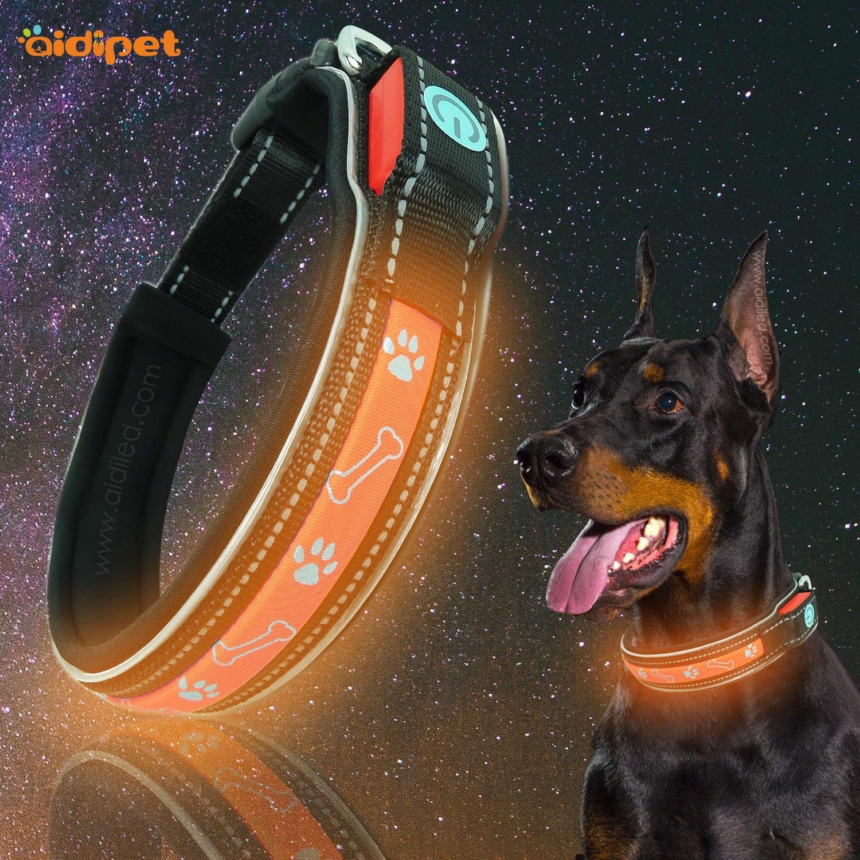 Pet Supplies LED Pet Collar Stylish And Durable Nylon Shining Dog Neck Ring And Medium-sized Dog Dog Neck Ring