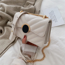 personalized magnetic buckle small bag 2019 new Chao Ling Ge small square bag fashion chain single shoulder oblique Bag цены онлайн
