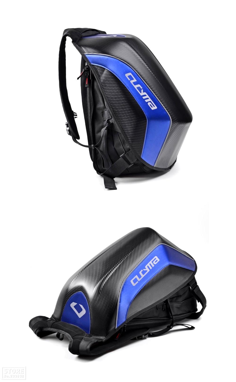 água motocicleta mochila de fibra carbono motocross