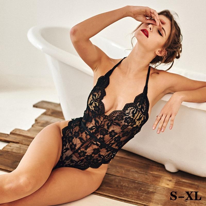 Women High Waist Lingerie Set Sexy Plus Size S-XL Lace Sleepwear Babydoll Porno Exotic Apparel Hot Erotic American Clothing
