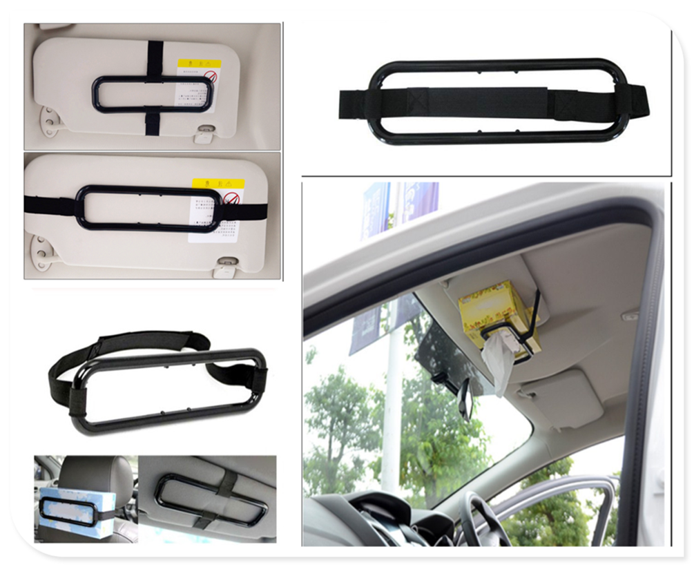 Universal Car Tissue Box Hanging Telescopic Bandage For Ford FAICON 2002 1998 Temitory 2004 2011 1500 F-senies Escape