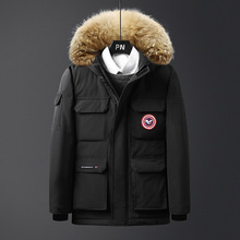 Goose MEN'S Cotton-padded Clothes Men New Style Autumn And Winter Fur Collar Hoo