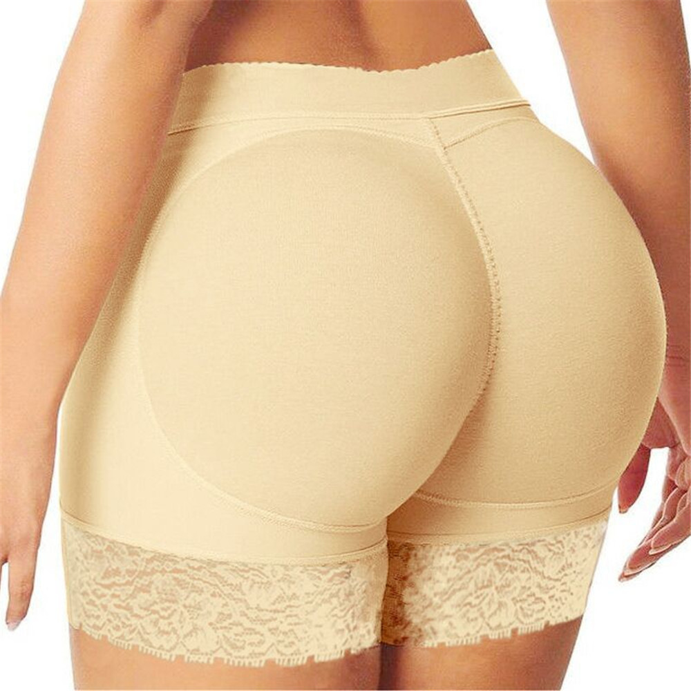 Women Sexy Seamless Lace Safety Shorts Boxer Plus Size Female Panties Shorts Pants Shaper Underwear Hips Pads With Air Cushion
