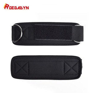 Image 3 - ROEGADYN Double D ring Adjustable 2PCS Fitness Ankle Guard Strap Leg Gym Training Lifting Hip Cable Foot Belt with Rope Bag