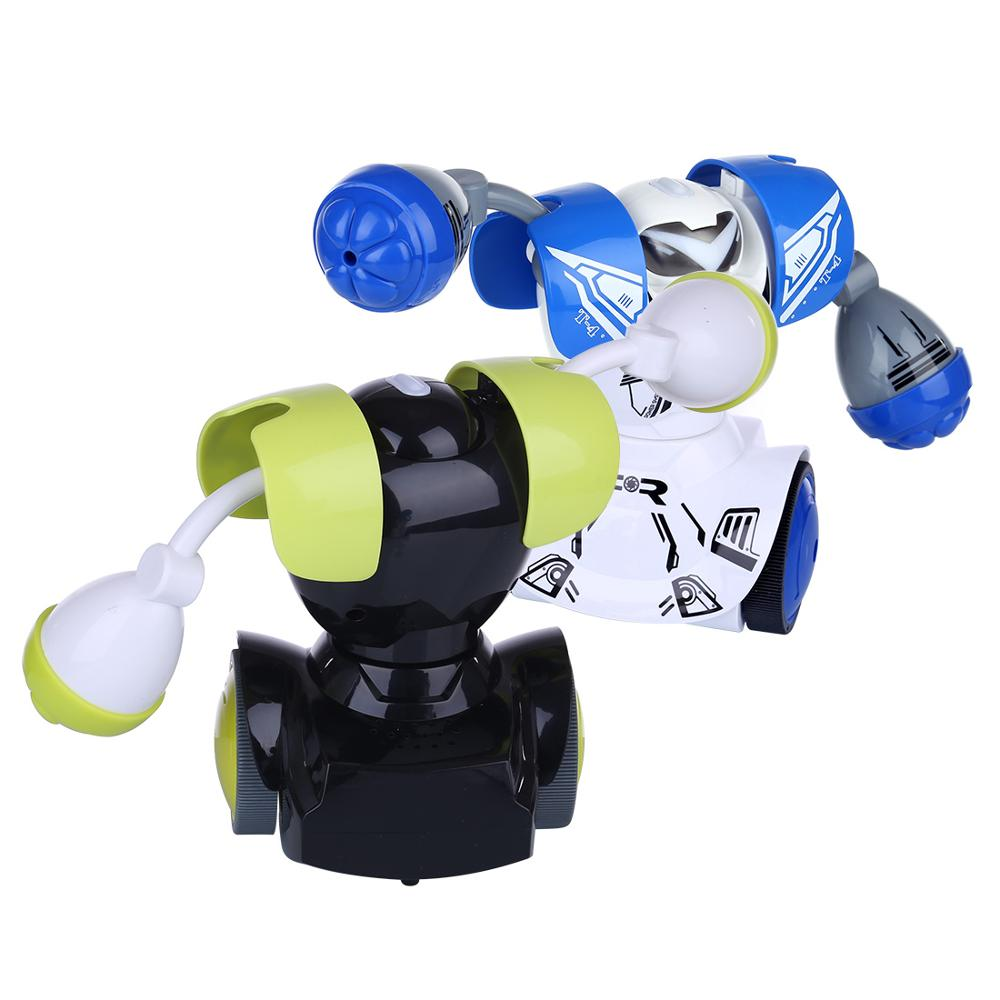 Hot RC Boxing Robots Intelligent Remote Control Fighting Play Toy Battle Robot Without Boxing Target Birthday Gifts for Boys