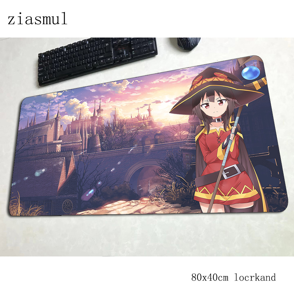megumin mouse pad 80x40cm gaming mousepad anime Natural Rubber office notbook desk mat Kawaii padmouse games pc gamer mats(China)