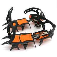14 Teeth Crampons Manganese Steel Climbing Gear Snow Ice Anti-Skid Shoe Grippers Crampon Traction Device Mountaineering