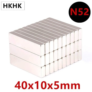 10/20PC N52  40x10x5 MM Super Strong Sheet Rare Earth Magnet Thickness 5mm Block Rectangular Neodymium Magnets 40mm x 10mm x 5mm 10 20pcs n52 40x10x4 mm super strong sheet rare earth magnet thickness 4mm block rectangular neodymium magnets 40mmx10mmx4mm