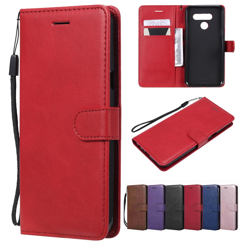 Leather Flip Case For LG K7 K8 K10 2018 K10 Power K12 Plus K20 K30 2019 K40 K40S K50 V20 Mini V30 V40 Thinq V50 V60 Wallet Case