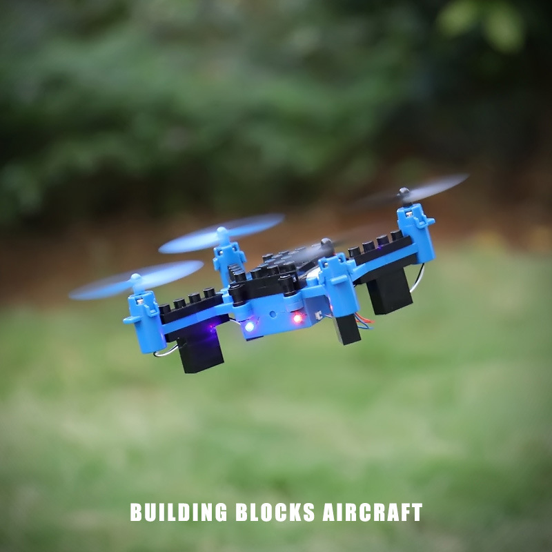 Ky201 Quadcopter DIY Building Blocks Assembled Unmanned Aerial Vehicle Mini Remote Control Aircraft School Assembly Model