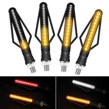 2pcs Flashing LED Lights  Motorcycle  DRL Turn Signal Brake Strip LED Blinker Flowing Water Motorcycle  Indicator Lamp 12V стоимость