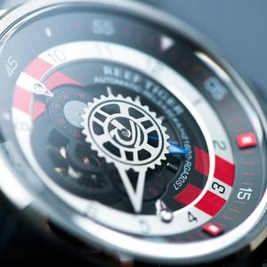 Image 3 - 2020 novo design reef tiger/rt luxo relógio esporte dos homens à prova dwaterproof água 100 m relógios mecânicos pulseira de borracha aço rga30s7