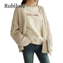 Rubilove 2019 Autumn Women Cardigans Sweaters Casual Long Sleeve Loose Knitting Cardigan Fashion Solid Outwear Harajuku Female S crystal chandeliers lighting home lighting fixtures ring led chandelier lamp modern lights fixture hanging lustres led luminaire