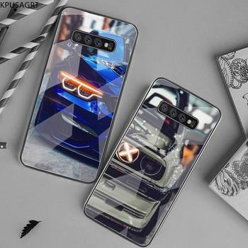 Blue Red Car for Bmw Shell Phone Case Tempered Glass For Samsung S20 Plus S7 S8 S9 S10 Plus Note 8 9 10 Plus image