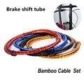 1.8m cabos de freio da bicicleta linha de cabo de mudança tubo para mtb road bike shifters desviador cabo de freio fio para brompton freio shift