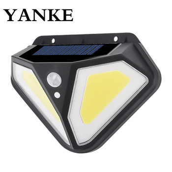 YANKE LED Wall Lamps Solar Lamp PIR Motion Sensor 3 Modes Outdoor Solar Garden Light Waterproof Energy Saving Wall Yard Lamps