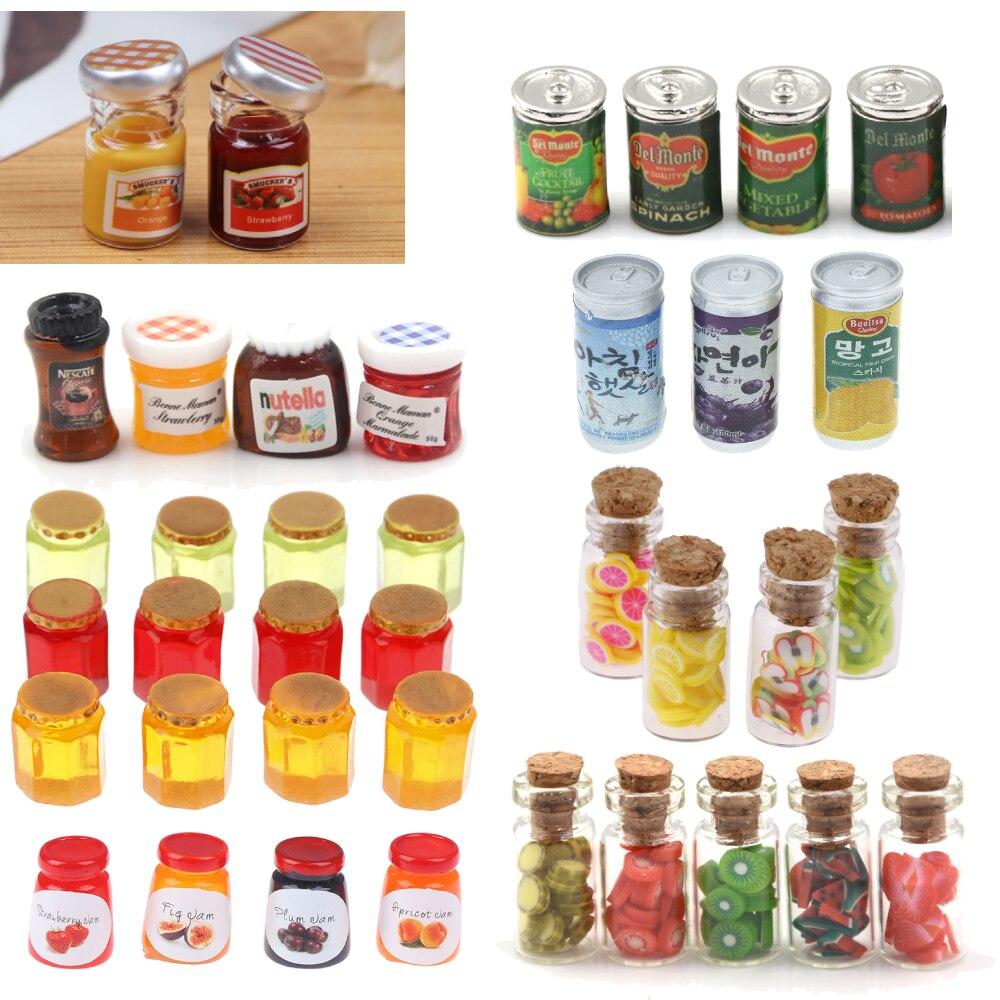 Dollhouse 4 Miniature Nutella Jars Lot 1:12 Scale 1.5cm US Seller