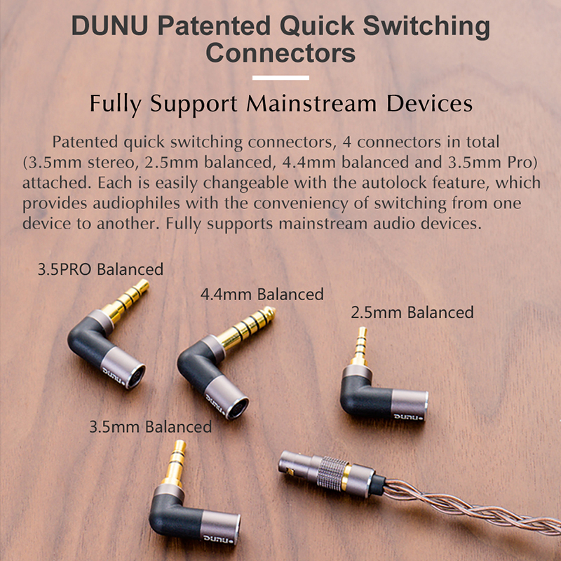 Image 5 - DUNU DK3001 PRO HiFi Audio 5 Hybrid Driver(1DD+ 4 Knowles BA) In ear Earphone MMCX Detachable cable 2.5/3.5/4.4 Balanced connectEarphones   -