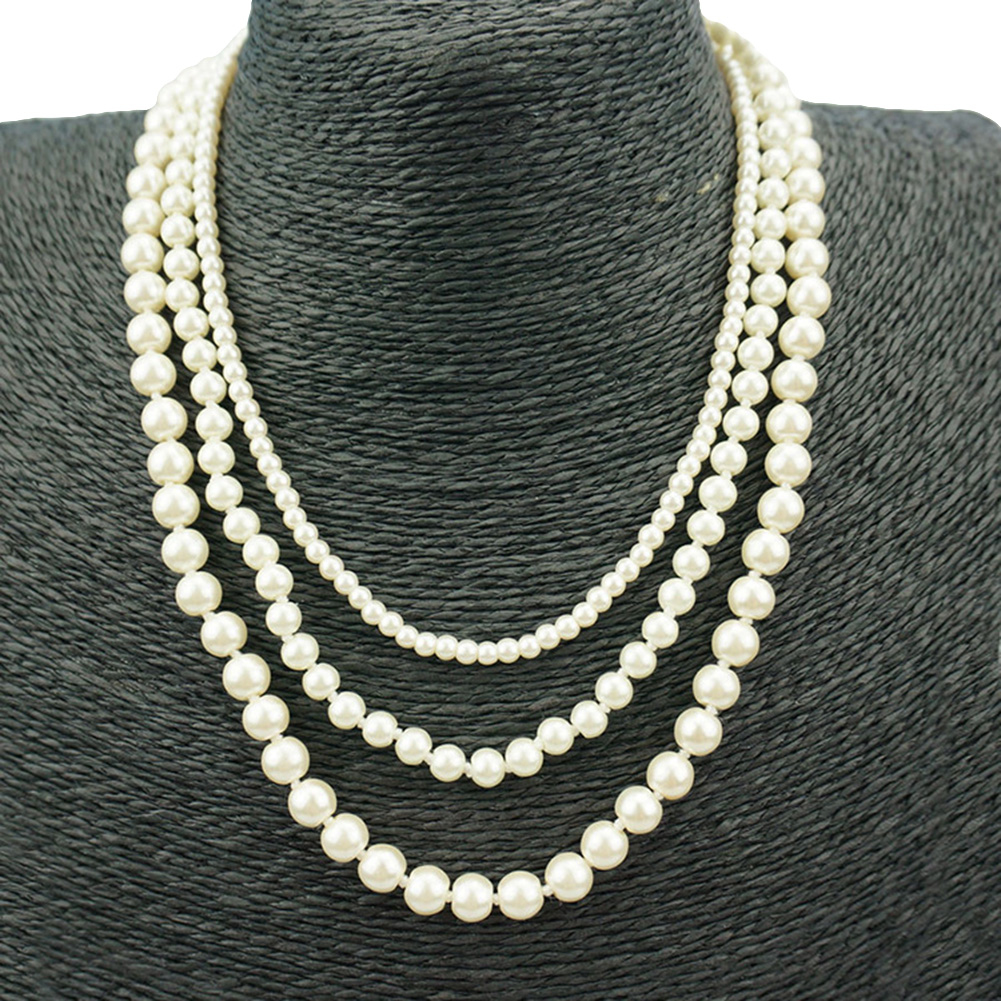 cheap ugg boots under $50 Fashion Women Faux Pearl Charm Beaded Multilayer Long Necklace 16 inch choker necklace Jewelry Gift Multilayer Long Necklace Jewelry Gift Multilayer Lon best online black friday deals 2018 Choker Necklaces wb38961149