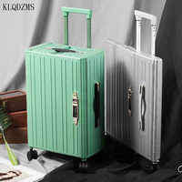 KLQDZMS-maleta de viaje de 20 pulgadas con ruedas, equipaje con ruedas, plegable, elegante