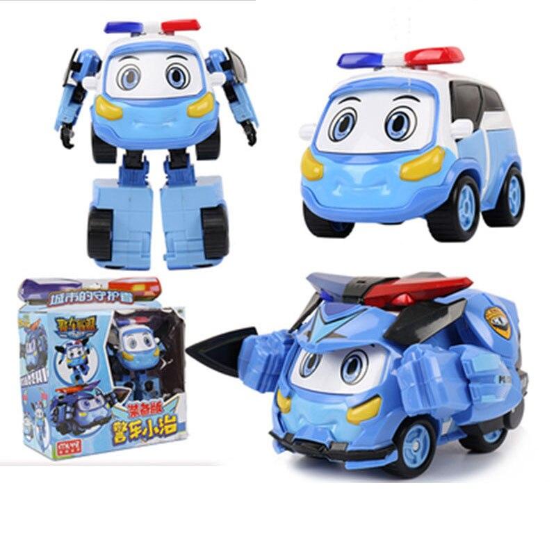 Robocar Poli Kids Toys Police Transformation Equipment Flight Version Robot Car Anime Action Figures Toy  Car Toy Car Model
