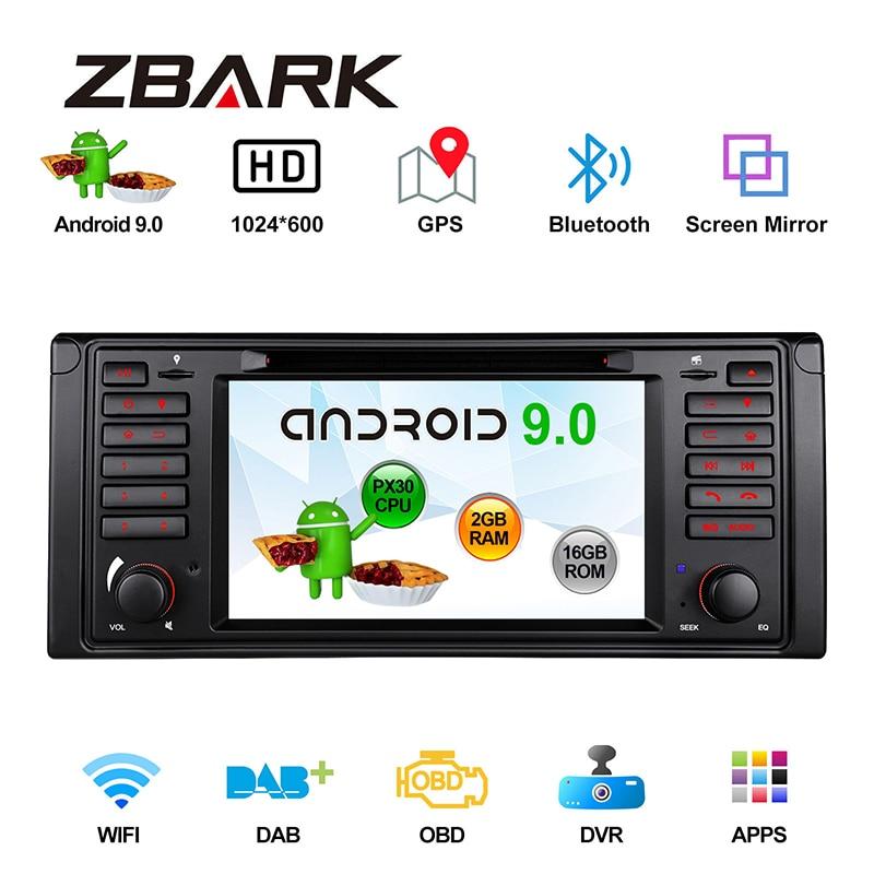 "Android 9,0 Оперативная память 2 Гб 2DIN 7 ""автомобильный мультимедийный dvd-плеер для BMW E39 M5 1999 2000 2001 2002 2003/7 SeriesE38 1994-2001 YH39PX3001"
