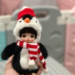 1/8 BJD голова obitsu OB11 голова куклы с макияжем с OB11 тело с глазами с одеждой T002