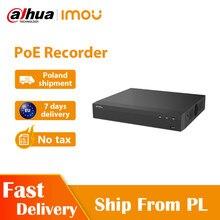 Dahua imou poe nvr 4ch power over ethernet recorder 1080p fhd vídeo 4ch ceia decodificação de até 8tb armazenamento bidirecional talk cat 6 net