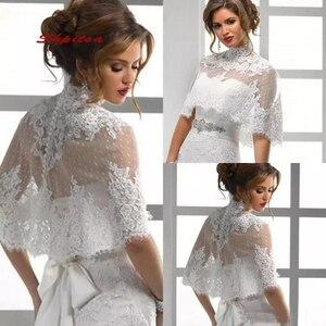 Lace Wedding Wape Jacket Shawl Bridal Wrap Bolero Shrugs for Women(China)